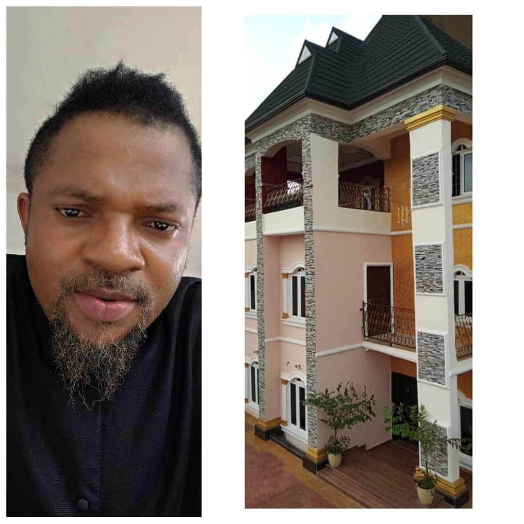 Actor, Walter Anga, erects breathtaking two storey building (photos)
