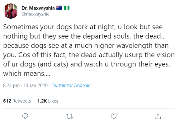 """""""The dead are everywhere"""" Nigerian medical doctor shares spooky explanation of how dead people use bodies of humans and animals to operate"""
