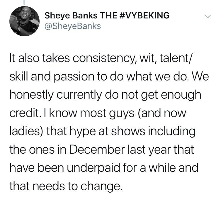 """""""Hypemen were underpaid from shows in December and that needs to change"""" OAP and Event Host Sheye Banks gives reasons why hypemen deserve to earn more from events"""