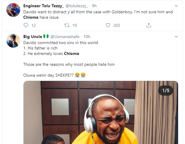 5e22d2b4bbce02064803411185922680 - Screenshots: Nigerians And Governors React To Davido And Chioma Unfollowing Each Other On Instagram