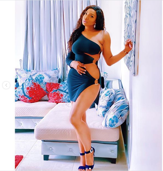 Ain't no small chops but full meal – Chika Ike says as she shares more photos of herself in a risqué barely-there dress