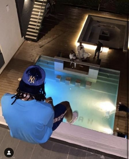 Burna Boy Acquires New Mansion In Lekki Lagos, With 8 Rooms and Swimming Pool (Watch Video + Photos)