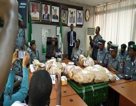 Nigeria Customs intercept $8m cash at Lagos Airport; arrest driver (photo)