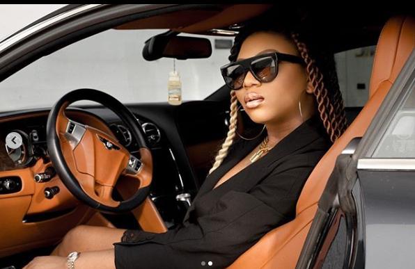 Stephanie Coker gets a Bentley as 'push present' (photos)