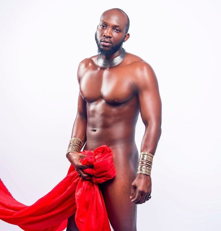 Tuoyo strips down to his birthday suit for Valentine's Day photoshoot