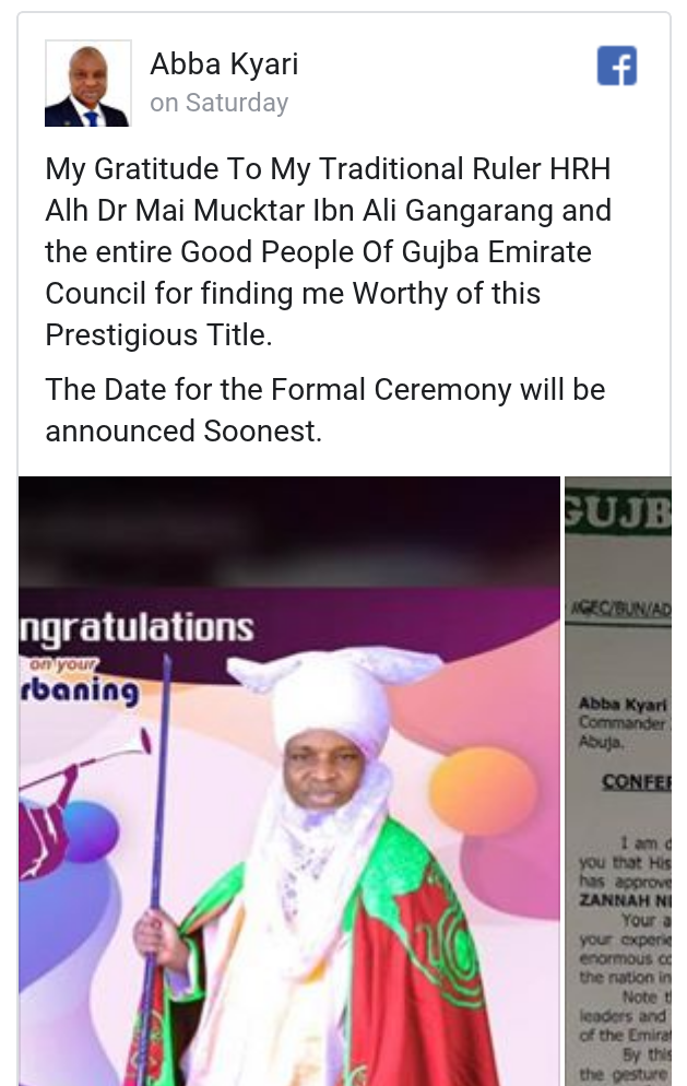 DCP Abba Kyari bags chieftaincy title in Yobe