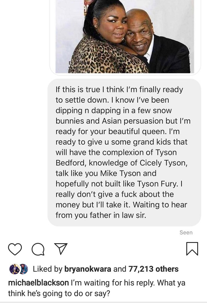 """""""I Will Knock The F*ck Out Of That Person"""" – Mike Tyson Reacts Angrily To Claims That He Begged Suitors To Marry His Daughter And Get $10 Million"""