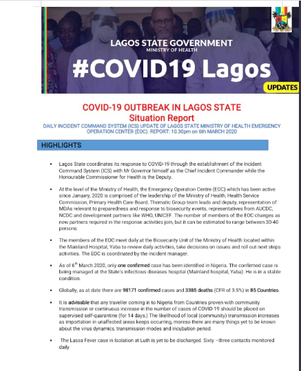Coronavirus: Lagos monitoring 349 persons from endemic countries