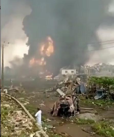 Vandalism is not the cause of pipeline explosion in Abule Ado – NEMA (videos)