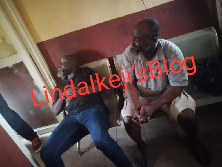 Police arrest celebrity journalists Abiola Aloba and Sunday Adebayo over damaging story published about fashion designer, Yutee Rone (photos and video)