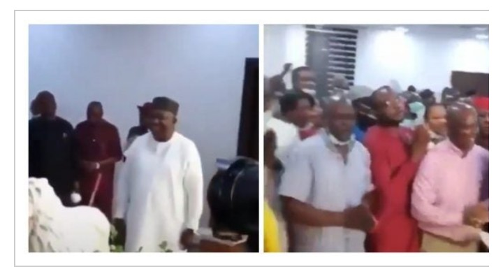 #COVID-19: Enugu Governor, Ifeanyi Celebrates Birthday With Crowd (Watch Video)
