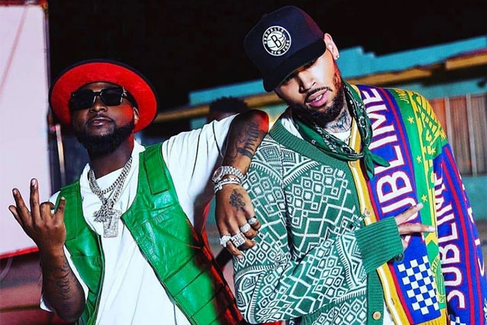 American Singer, Chris Brown Gives Davido A Huge Surprise (Video)