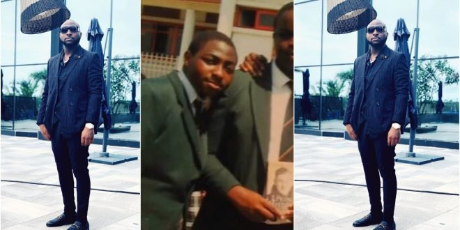 Throwback picture of Davido in high school causes stir online. (photo)