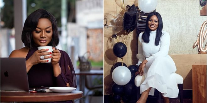 Sandra Ankobiah's Birthday Cake Puts her in trouble – Photo