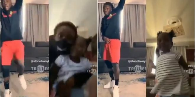 Family Goals: Stonebwoy, Wife, And Daughter Displays Their Serious Dancing Moves In New Video – Watch