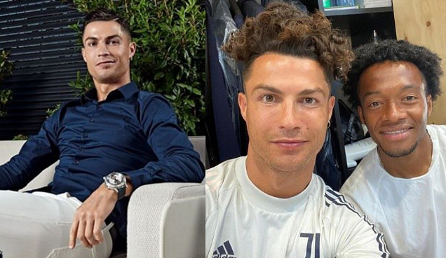 Juventus Striker, Cristiano Ronaldo Shows Off His New Hairstyle (See Photo)