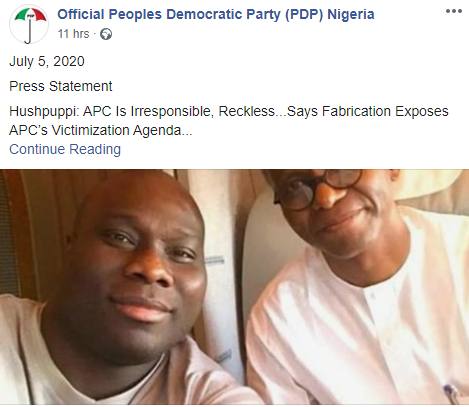 This is irresponsible and reckless- PDP knocks APC for calling for an investigation into Hushpuppi's alleged links with some of its members