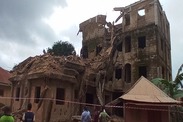 Video Of Three-Storey Building Which Collapsed In Ebonyi