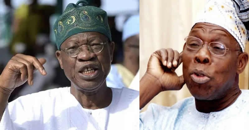 Buhari prevented Nigeria from being a failed state, you don't have genuine love for the country – Lai Mohammed hits back at Obasanjo
