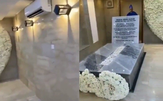 AC, marble finishing. See The Insides Of Late Abiola Ajimobi's Graveyard  (video)