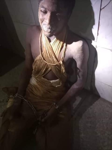 22-year-old man reunited with his family after he was found with legs, hands chained and dumped behind mosque in Abuja community