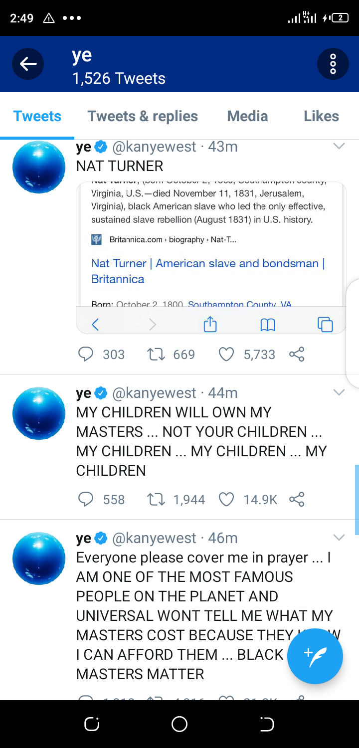 Kanye West threatens to battle Universal and Sony music for his music masters while begging fans to pray for him