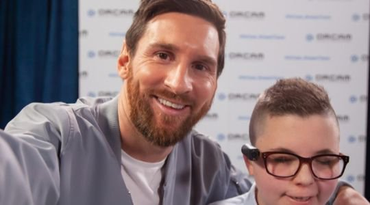 WORLD CLASS! Emotional Moment As Lionel Messi Gifts 12 Visually Impaired Individuals Gifts Worth N21m