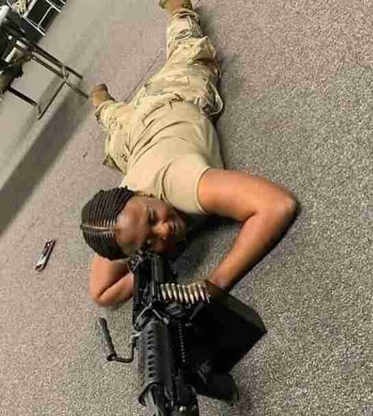 FEARLESS!! This Nigerian Lady Is A Sniper In The US Army But Nigerians Want Her To Return Home