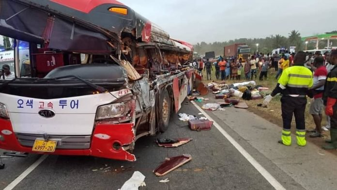 Lives lost following a fatal accident at Kyekyewere this morning -Graphic images