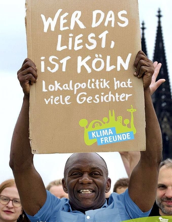 Nigerian Man Makes History In Germany, Becomes First Black Man Elected Member of Cologne's City Council (Photo)