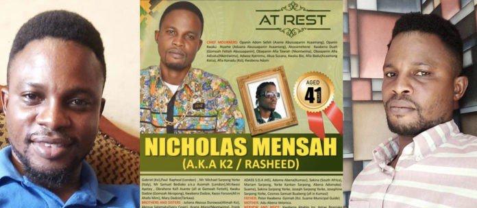 Ghanaian musician Kay 2 is dead