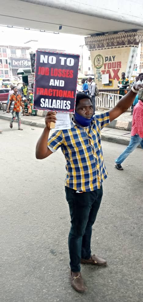 Photos Of Nigerians Protesting Against Electricity, Fuel Price Increment In Lagos