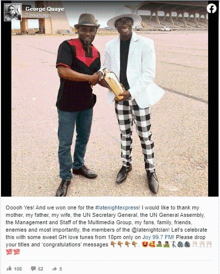 George Quaye falls victim to another of DR UN  scam, Netizens reacts