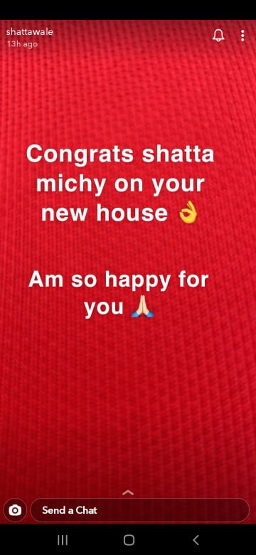 Shatta Wale congratulates his baby mama, Michy on her new house