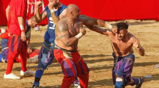 FIGHT TO DEATH!! See This Violent Game In Italy Where People May Fight To Death!