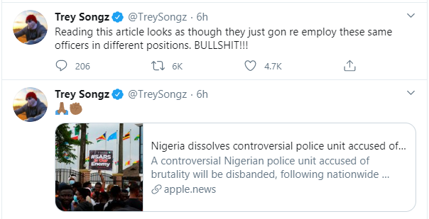 """""""The People Are Saying You're Full Of Sh*t"""" – Singer, Trey Songz Lambasts President Buhari"""