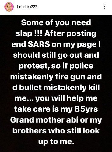 #EndSARS: Bobrisky Reacts As Nigerians Attack Him For Not Participating In The Protest