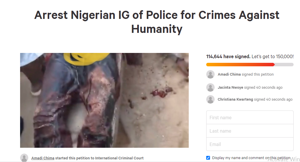 #EndSARS: More Than 100,000 Nigerians Sign Petition Requesting ICC To Prosecute IGP Adamu Mohammed Over Killings During Protest