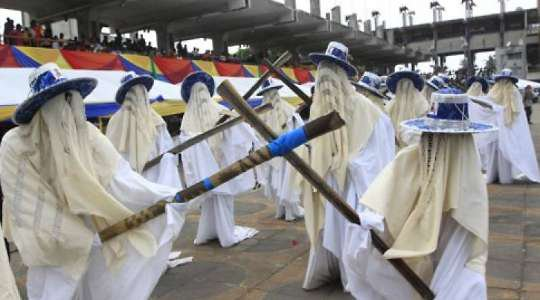 See This Festival In Nigeria Where Masquerades Flog Anyone Wearing Shoes Or Smoking, See Why!!