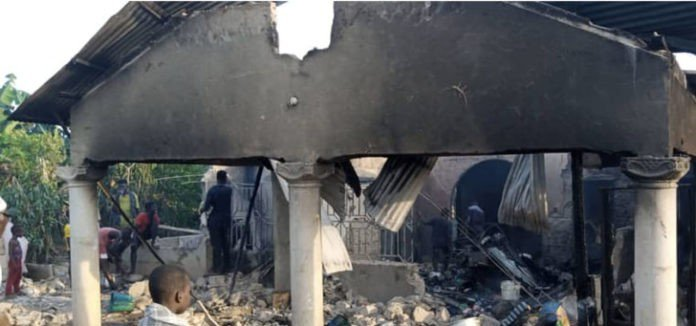 Sons burn down their father's house in an attempt to cast out evil spirits in Ghana