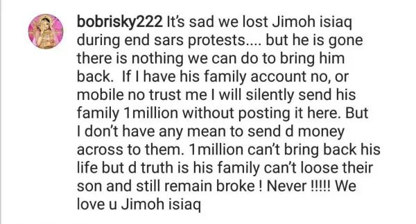 Bobrisky Reveals Plan To Give N1million To Family Of Late Jimoh Isiaq
