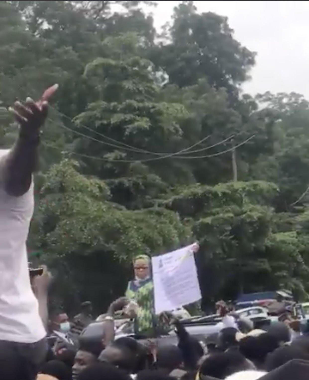 Deputy Governor, Flavour, Phyno, Lead #EndSARS Protest In Enugu (Photos)