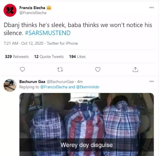 Nigerians Drag Dban'j, Kizz Daniel, Tonto Dikeh And Other Celebs For Staying Mute Over #EndSARS Campaign