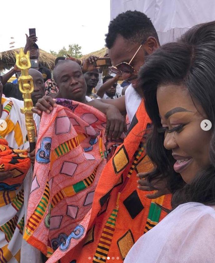 Rev Obofour & wife given the title Abuafuohene & Abuafuohemaa at Tepa, Ghana