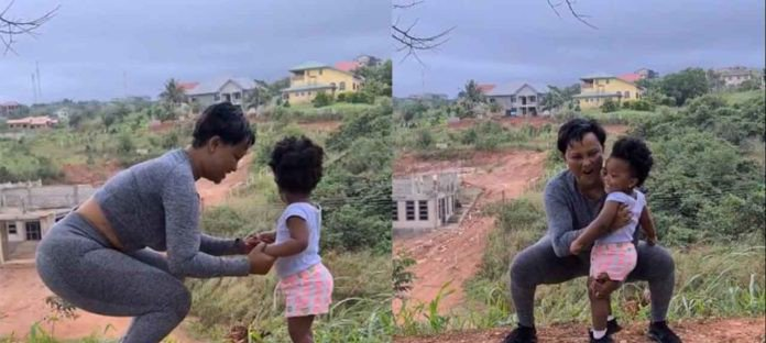 Mcbrown and her daughter, Baby Maxin seen exercising together in cute video