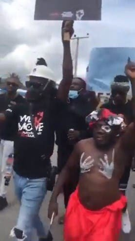 """End SWAT in Jesus Name"" – Native Doctor Chants During Protest In Delta (Video)"