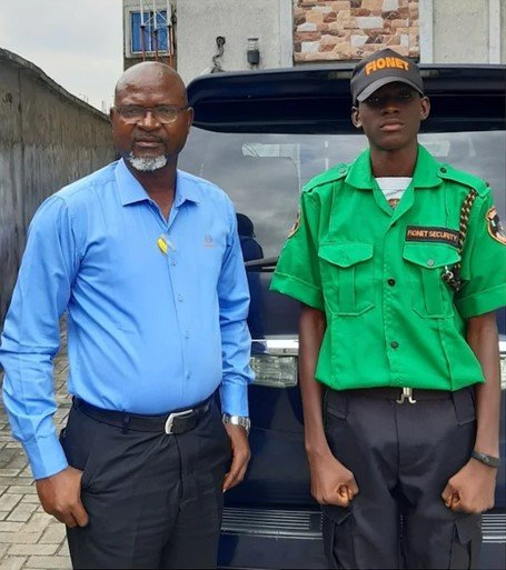 Nigerian Father Employs His Son As Security Man In His Company (Photo)