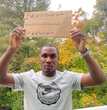 See How Man Utd Star, Ighalo Showed Support For #EndSARS (Photos)