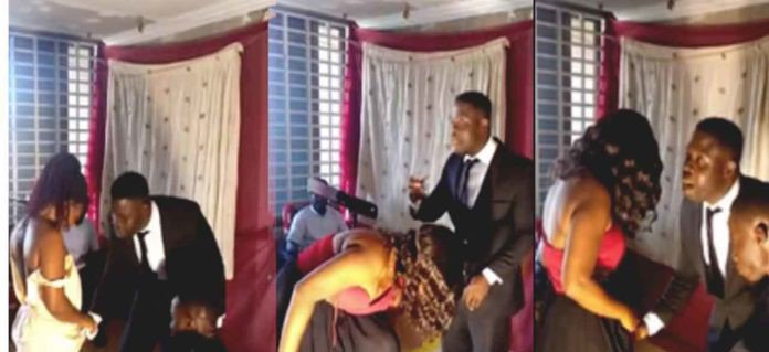 Pastor shaves the pubic hair of female members of his church during a live sermon