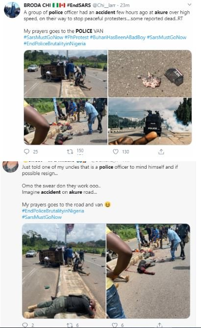 Graphic Photos Of Police Officers Killed And Injured In Ondo Fatal Road Accident (Photos)